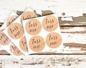 Toss Me Wedding Favor Stickers - Wedding Favors, Shower Favors - Confetti, lavender, petals, rice, wedding exit, send off - 20 Stickers