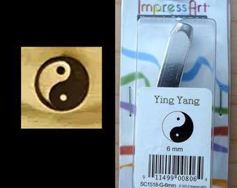 6mm Metal Stamp Tool- Ying Yang Hand Of Miriam Cross Outline Horse Shoe