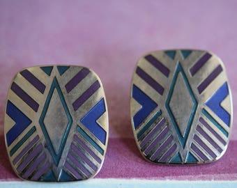 vintage Laurel Burch QUINTESSENCE post earrings