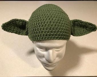 Crochet Yoda Beanie Youth