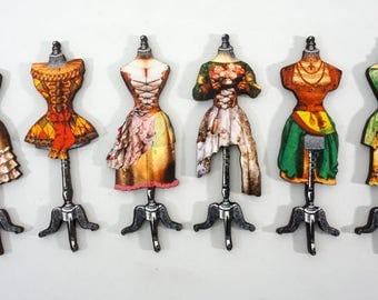 Fancy Dress Forms - Collection of 6 Laser Cut Wooden Craft Parts