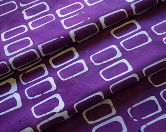 Forma:Rectangles Hand Dyed and Patterned Cotton Fabric in Lavender and Orchid
