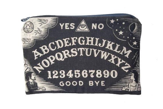 Ouija Board Makeup Pouch in Black