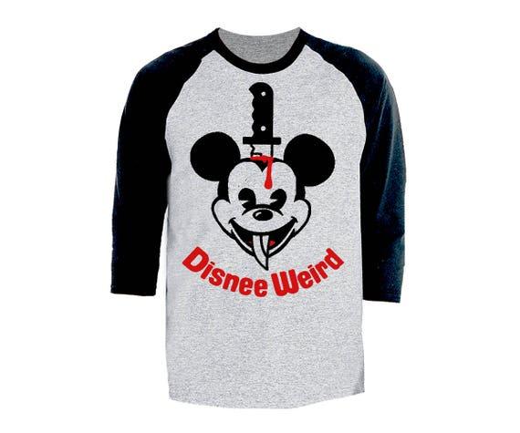 Disnee Weird Mickee T Shirt 3/4 Sleeves