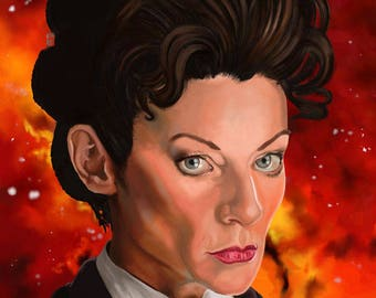 Doctor Who Michelle Gomez Missy Portrait Art Print 8 x 10 inches