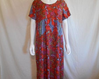 Closing Shop 40%off SALE Vintage Colorful Floral Long Dress