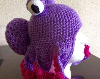 Octopus Hat - Octopus Beanie - Octopus Cosplay - Octopus Cosplay Costume - Octopus Fantasy Hat - Octopus Fantasy Beanie