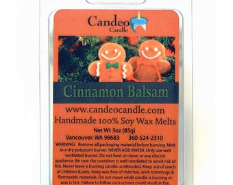 Cinnamon Balsam Soy Melt Cubes by Candeo Candle, for use in any warmer including Scentsy!