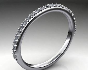 ready to ship - shay wedding band - NEO moissanite wedding ring, size 5.75
