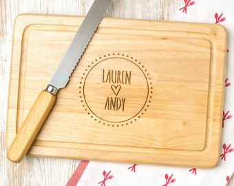 Cutting Board Personalized - Available in Slate or Wood