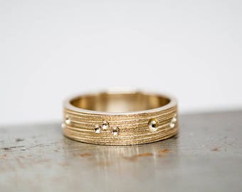 Size 7 Womens Textured Bronze Ring Band | Ready to Ship