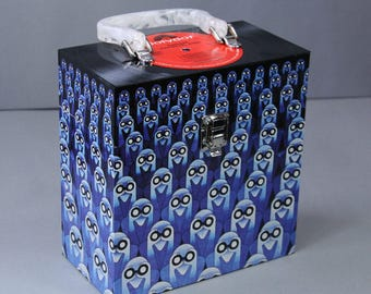 7-inch Vinyl 45 Record Case - Handmade from Recycled Record - Jean-Michel Jarre - Equinoxe