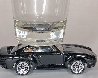 The ORIGINAL Hot Shot, Classic Hot Rods, Shot Glass, Black Porsche 959, Hot Wheel car