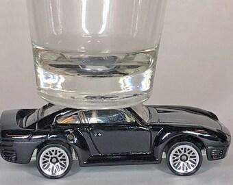 The ORIGINAL Hot Shot, Classic Hot Rods, Shot Glass, Black Porsche 959, Hot Wheel car