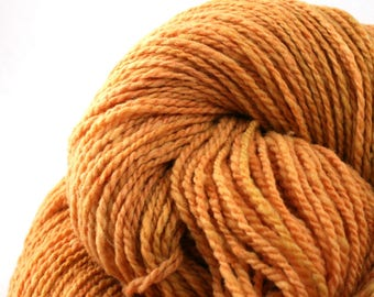 Mohonk Hand Dyed sport weight NYS Wool 370 yds/ 338 m 4oz/ 113g Ochre