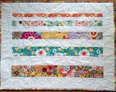 Spring Floral Quilted Wall Hanging, Floral Table Topper, Springtime Flowers Wall Decor