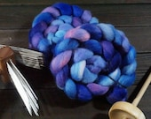 Corriedale Cross Combed Top, Spinning Fiber, Hand Dyed