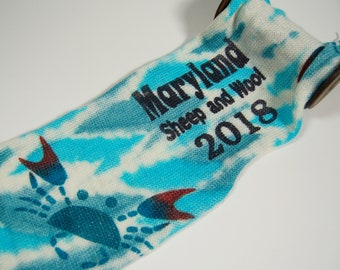 Sparkle sock Blank - Blue Crab **PICKUP AT SHOW**Maryland Sheep and Wool commemorative Sock Blank