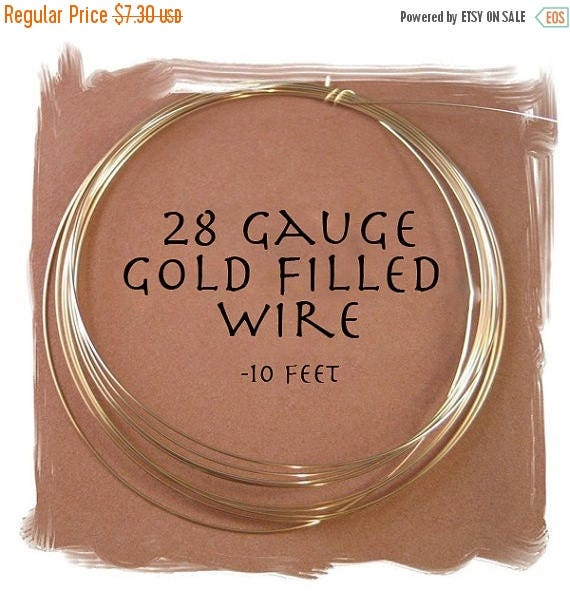 Summer SALEabration - 28 Gauge Gold Filled Wire, 10 Feet of Round, Half Hard Wire for Wire Wrapping Jewelry, Thin Gold Wire for Natural Gems