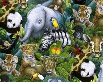 Four Seasons Fabric,  Jungle Animal, yard