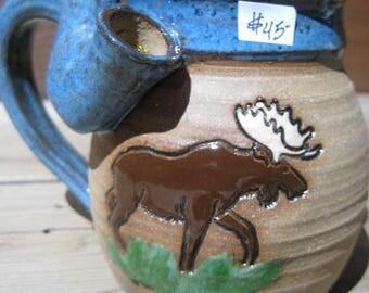 Moose - Wake and Bake Small  Mug....  MUG and a PIPE.... AWESOME !!!  ....... a68