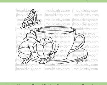 Digital Rubber Stamp Limited Edition Instant Download JessicaLynnOriginal Spring 2017 Coffee Lovers Limited License Card Making Scrapbooking