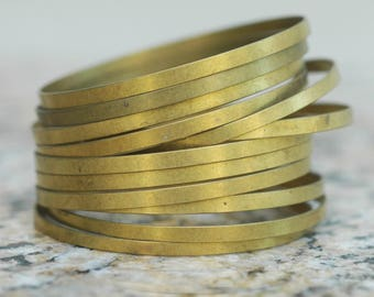 "Large Brass Ring Pendant Component ~ 2"" diameter ~ set of 12"