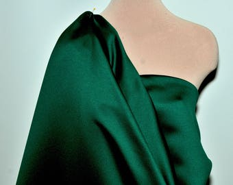 """Heavy Matte Satin..FOREST GREEN  60"""" wide.. poly... bridal, formal, pageant, suits , home decor..wedding...crafts..doll clothing"""