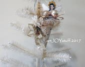 CHRISTMAS ANGEL - metal cone - vintage bits - NO089