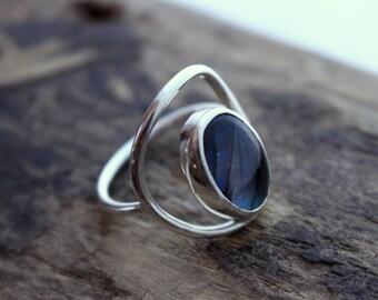 Labradorite Sterling Silver Ring Band