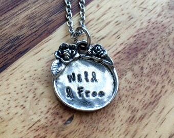 Personalized Necklace - Gift for Her - Silver Necklace - Jewelry - Hand Stamped - Custom Necklace - boho inspired - vintage inspired