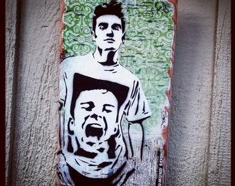 Morrissey Mixed Media Graffiti Art Painting on Photo Transfer Original Art on Handmade Canvas Home Decor Pop Art Gallery