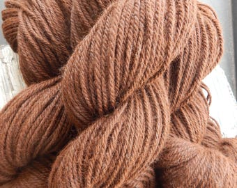 100% Alpaca Yarn 3 Ply Bulky Weight 8 ounces Light Brown Knit Crochet Weaving DIY