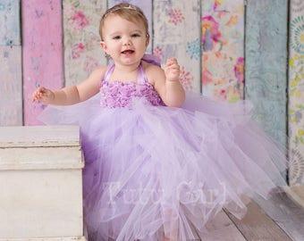 Lavender Flower Girl Tutu Dress