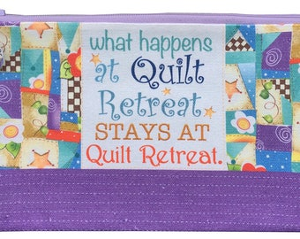 Patchwork Quilt Retreat Pouch - Canvas KIT