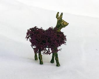 TEENY Gold Forest Spirit Deer