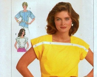 Christmas in July Sewing Pattern Simplicity 7483 Misses' Tops Easy to Sew  Size 6-8-10 Bust 30-31-32 inches Uncut Complete