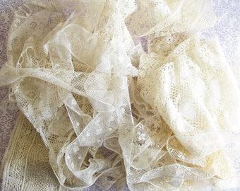 Lace Treasures...Lot of Beautiful Vintage Trim Remnants