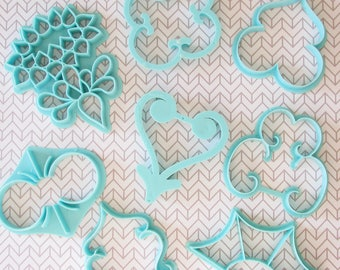 Fun Vintage 1970s Cookie Cutters...Groovy Patterns