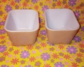 Pair of Pyrex Old Orchard 501 Refrigerator Dishes