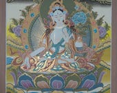 White Tara Goddess of compassion, long life, healing and serenity- Original Painting-Non Profit