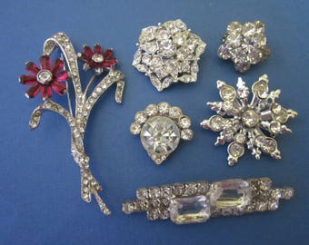 DeStash Vintage Rhinestone Brooches