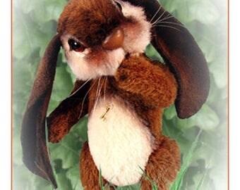 ON SALE Artist Bunny PDF, Diy Rabbit Pattern, Teddy Bear Pattern, Stuffed Animal Tutorial, Rabbit Plushie, Diy Artist Animal, Woodland