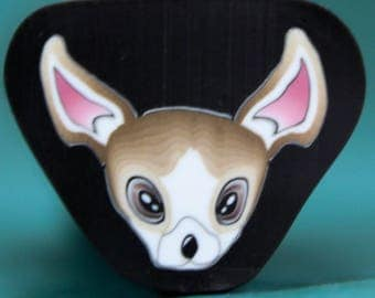 CHIHUAHUA Polymer Clay Dog Cane -'Puppy Love' (28C)