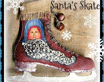 Apple Tree Cottage Original Design E Pattern - Santa's Skate