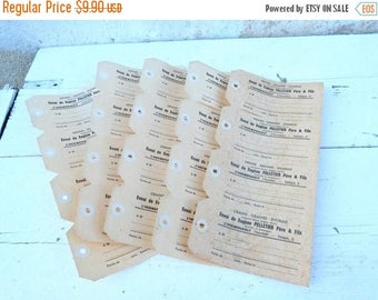 ON SALE Set of 5 Antique French paper labels for seeds coming from a seed shop