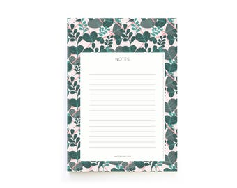 Urban Jungle Notepad / A6 memo book / Valentine day / Gift for gardeners and plant lovers