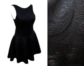 special order  for Amanda The Calipso paisley relif black skater dress