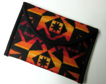 iPad Mini Cover Sleeve Ipad Case Wool Blanket Padded Native American Print Wool from Pendleton Oregon