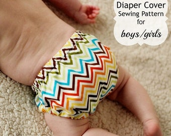 SALE Diaper Cover Sewing Pattern Tutorial 0m-2t PDF Instant